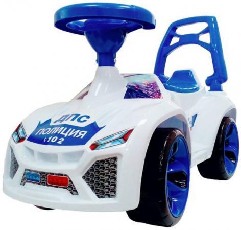 ОР021в2 Каталка машинка Ламбо с клаксоном POLICE бело-синяя каталка машинка rt джипик police с клаксоном красная ор105
