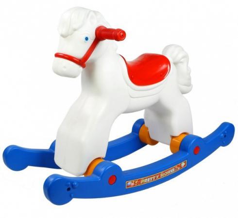 Каталка-качалка R-Toys Лошадка трансформер пластик от 8 месяцев белый 5570/ОР146 каталка качалка weina с управляющей ручкой roadster deluxe 5 в1 2133