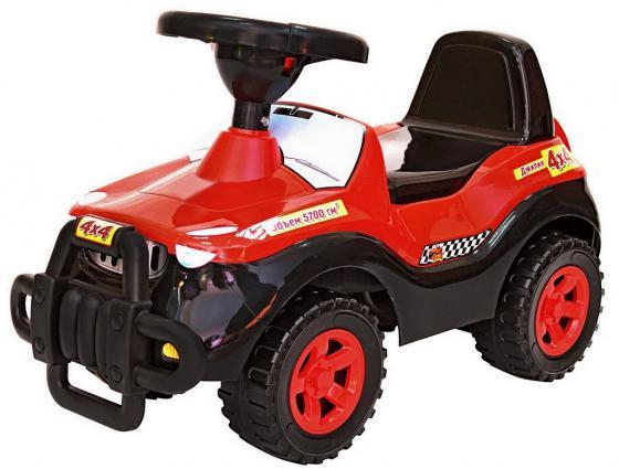 все цены на Каталка-машинка R-Toys Джипик пластик от 8 месяцев с клаксоном черный с красным 105 онлайн