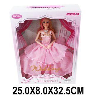 Кукла Shantou Gepai Невеста, в розовом платье 29 см шарнирная цена