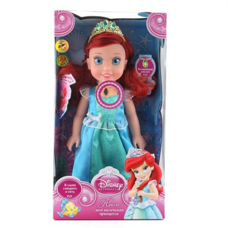 Кукла Карапуз Ариэль 37 см говорящая ARIEL001 карапуз кукла рапунцель со светящимся амулетом 37 см со звуком принцессы дисней карапуз