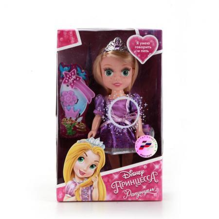 Кукла Карапуз Disney Princess Рапунцель 15 см. RAP002 карапуз кукла рапунцель со светящимся амулетом 37 см со звуком принцессы дисней карапуз
