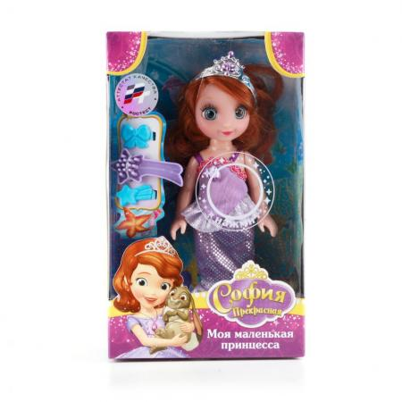Кукла Карапуз Disney София 15 см. карапуз кукла рапунцель со светящимся амулетом 37 см со звуком принцессы дисней карапуз