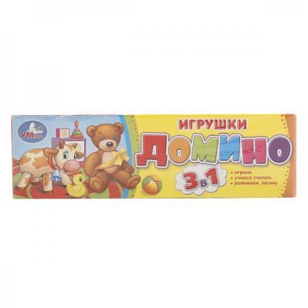 ДОМИНО ПЛАСТМАССОВОЕ УМКА ИГРУШКИ 3-В-1 В КОР. в кор.100шт игрушки для ванны умка игрушки мультиколор