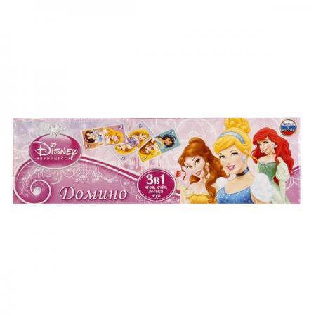ДОМИНО ПЛАСТМАССОВОЕ УМКА ДИСНЕЙ ПРИНЦЕССЫ 3-В-1 В КОР. в кор.100шт кукла золушка 7 5 см принцессы дисней
