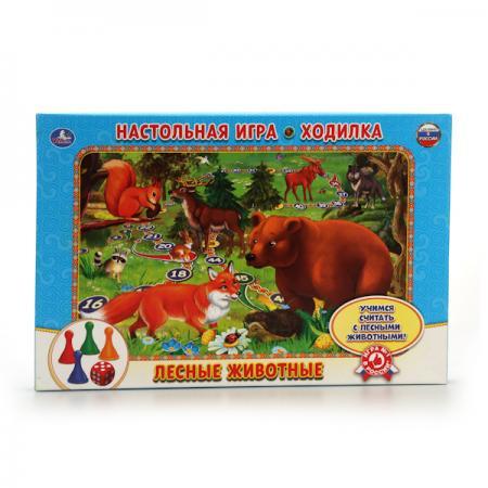 НАСТОЛЬНАЯ ИГРА-ХОДИЛКА УМКА ЛЕСНЫЕ ЖИВОТНЫЕ В РУСС. КОР.в кор.20шт игра настольная набор кубиков животные на ферме