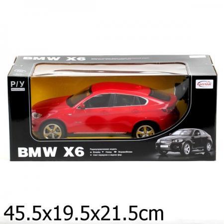 МАШИНА Р/У RASTAR BMW X6 1:14 СО СВЕТОМ, ЦВЕТ В АССОРТ. В КОР. в кор.6шт rastar bmw x6 1 24