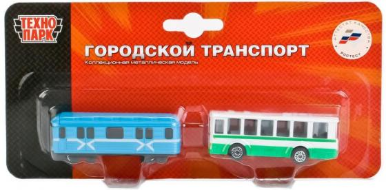 НАБОР ИЗ 2-Х МЕТАЛЛ. МОДЕЛЕЙ ТЕХНОПАРК ТРАМВАЙ И ТРОЛЛЕЙБУС НА БЛИСТЕРЕ 7,5СМ в кор.2*72наб игрушка технопарк трамвай 1079bc r