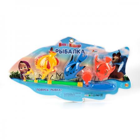 ИГРА РЫБАЛКА ИГРАЕМ ВМЕСТЕ МАША И МЕДВЕДЬ, В АССОРТ. НА БЛИСТЕРЕ (РУСС. УП.) в кор.2*60шт игрушки для ванны играем вместе игра играем вместе рыбалка мимимишки 3 рыбы и морской конек