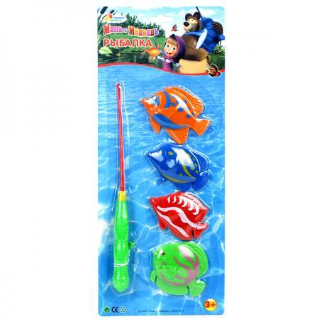 ИГРА РЫБАЛКА ИГРАЕМ ВМЕСТЕ МАША И МЕДВЕДЬ ЦВЕТ В АССОРТ. НА КАРТ. 40*16СМ в кор.2*24шт игрушки для ванны играем вместе игра играем вместе рыбалка мимимишки 3 рыбы и морской конек