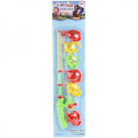ИГРА РЫБАЛКА ИГРАЕМ ВМЕСТЕ МАША И МЕДВЕДЬ, ЦВЕТ В АССОРТ. НА КАРТ. (РУСС. УП.) в кор.2*36шт игрушки для ванны играем вместе игра играем вместе рыбалка мимимишки 3 рыбы и морской конек