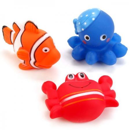 ИГРУШКИ ДЛЯ ВАННОЙ ИГРАЕМ ВМЕСТЕ 3 ВОД. ОБИТАТЕЛЯ В СЕТКЕ (РУСС. УП.) в кор.2*120шт игрушки для ванной играем вместе дельфин мыльница с 3 дельфинами в сетке русс уп в кор 2 60шт