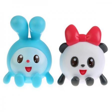 Купить Игрушки пластизоль для купания Играем вместе Малышарики (Крошик+Панди) в сетке в кор.50шт, ИГРАЕМ ВМЕСТЕ