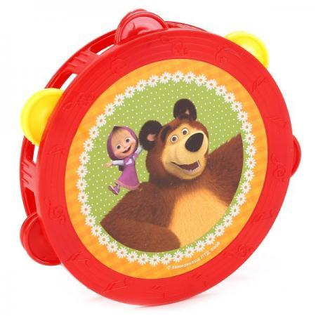 Бубен играем вместе маша и медведь в пак. (русс. уп.) 15,5*15,5*4см в кор.2*108шт