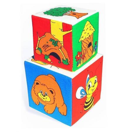 Кубики МЯКИШИ Кто где живет 2 шт 052 кубики мякиши животные 2 236