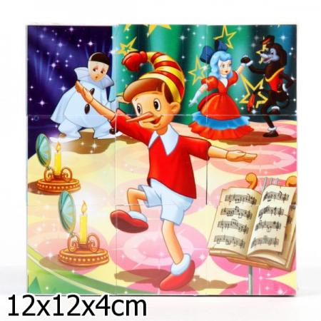 НАБОР ИЗ 9-И КУБИКОВ ИГРАЕМ ВМЕСТЕ СКАЗКИ В ПЛЕНКЕ в кор.30наб играем вместе кубики winx 6 кубиков деревянные играем вместе