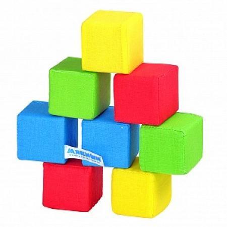 Кубики МЯКИШИ 332 4 цвета 8 шт мякиши лисичка