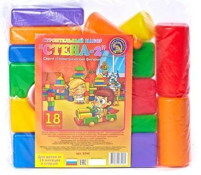 Купить Набор Строим вместе Стена-2 18 шт 5244, Игрушки