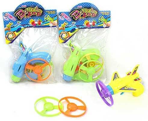 Купить Самолет Наша Игрушка Самолетик с дисками для запуска 3 шт цвет в ассортименте Y17032099, Игрушки