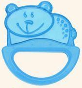 Купить Погремушка с эластичным прорезывателем Canpol арт. 13/107, 0+ мес., цвет голубой, форма мишка, Игрушки