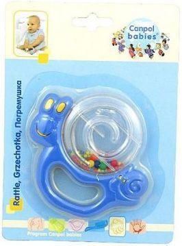 Погремушка Canpol Улитка/бабочка, 0+ мес., арт. 2/874, цвет: синий, форма: улитка погремушка b kids улитка sensory 005182b