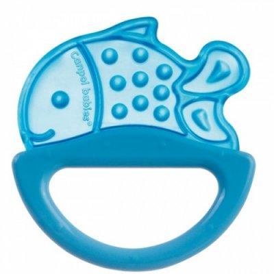 Погремушка с эластичным прорезывателем Canpol арт. 13/107, 0+ мес., цвет голубой, форма рыбка canpol babies погремушка рыбка с прорезывателем оранжевый желтый