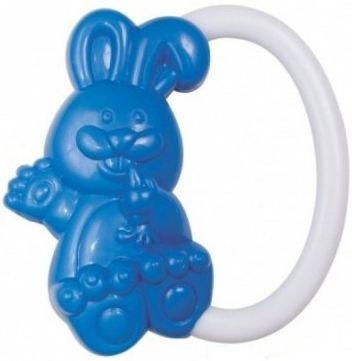 Погремушка Canpol Кролик, 0+ мес., арт. 2/188 цвет синий погремушка canpol колесо арт 2 887 0 мес цвет синий