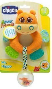 Игрушка-погремушка Chicco Бегемот Hippo chicco chicco детская погремушка мягкая щенок