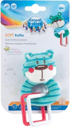 Игрушка-погремушка Canpol Forest Friends арт. 68/044 форма: медвежонок baby rattle canpol babies soft toy squeaker forest friends bear 0
