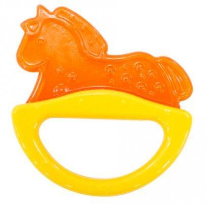 Погремушка с эластичным прорезывателем Canpol арт. 13/107, 0+ мес., цвет желтый, форма лошадка canpol babies погремушка рыбка с прорезывателем оранжевый желтый