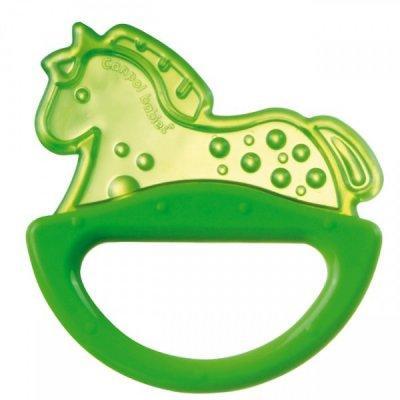 Погремушка с эластичным прорезывателем Canpol арт. 13/107, 0+ мес., цвет зеленый, форма лошадка жен платье арт 16 0239 зеленый р 56