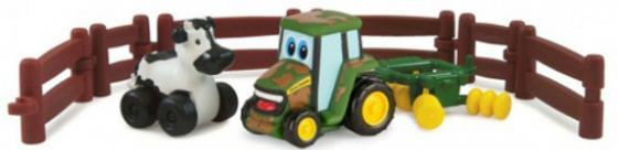 Игровой набор Tomy Приключения трактора Джонни и коровы на ферме 9 предметов 37722-1 игровой набор для ванны tomy пиратский корабль