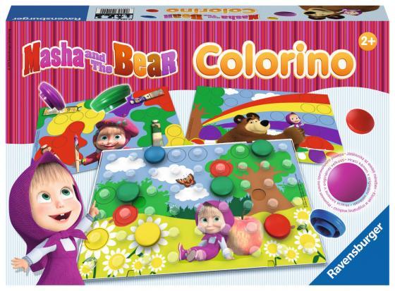 Настольная игра обучающая Ravensburger Маша и Медведь Колорино игры для малышей ravensburger настольная игра лого зоо