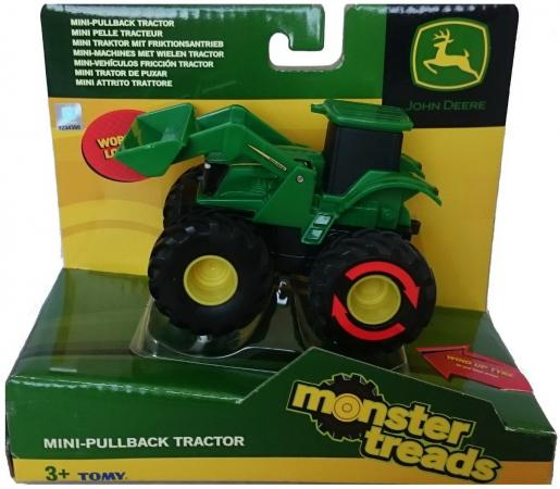 Трактор Tomy Monster Treads 10 см зеленый машина tomy john deere monster treads 37650 3