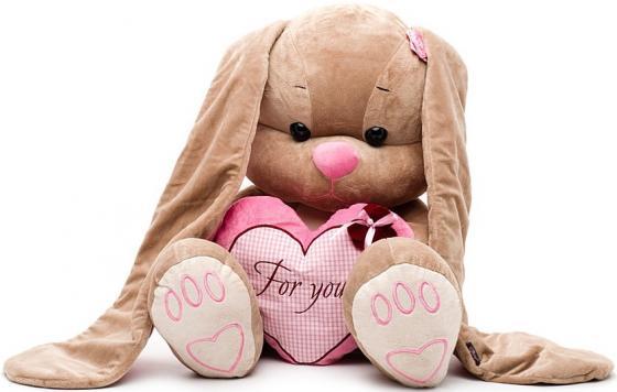 Мягкая игрушка заяц Jack Lin Зайка Лин с сердцем 50 см розовый полиэстер пластик искусственный мех J футболка lin show 367