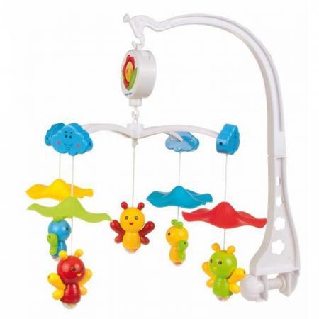 Карусель музыкальная пластиковая - пчелки под зонтом, 0+