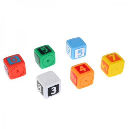 Игрушки пластизоль для купания ИГРАЕМ ВМЕСТЕ Кубики с цифрами (6шт) в сетке (русс уп) в кор.2*24шт игрушки пластизоль для купания играем вместе 3 кубика abf пищалка в сетке русс уп в кор 2 25шт