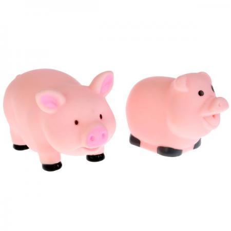 Игрушки пластизоль для купания Играем вместе Свинки (выс. 6см и 5см) в сетке (русс. уп) в кор.50шт игрушки пластизоль для купания играем вместе мимимишки лисичка и тучка в сетке в кор 50шт