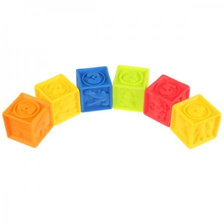 Игрушки пластизоль для купания ИГРАЕМ ВМЕСТЕ кубики (6шт) в сетке (русс. уп.) в кор.2*24шт игрушки пластизоль для купания играем вместе 3 кубика abf пищалка в сетке русс уп в кор 2 25шт