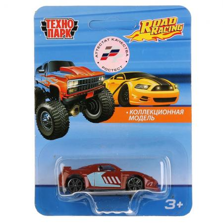 ТМ Технопарк. Машина металл. ROAD RACING, длина 7,5см, В АССОРТ. на блистере в кор.2*144шт тм технопарк машина металл джипы большие колеса спецтехника 7 5см на блистере в кор 2 144шт