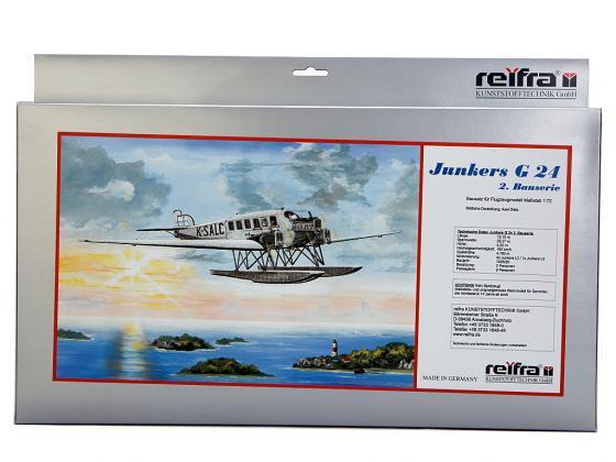 Самолет REIFRA JUNKERS G24 2 22 см серебристый R-G24-2 сборная модель revell самолет junkers ju 87 g 2 tank buster 04692r