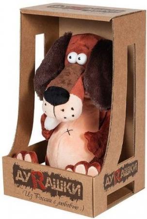Фигурка пёс ДуRашки Пес & Kostochka 25 см коричневый искусственный мех текстиль MT-TS-A8145-25