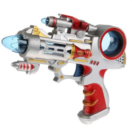 Купить Пистолет S+S Toys ПИСТОЛЕТ красный серебристый 100009488, Игрушки
