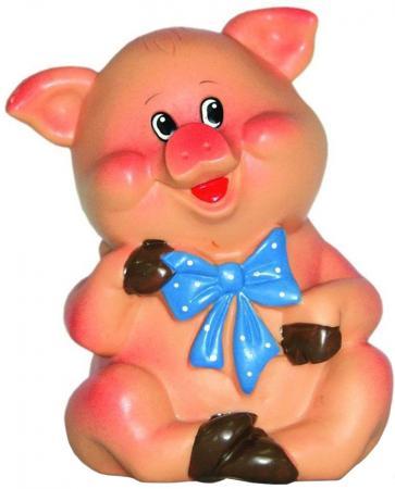 Купить Резиновая игрушка для ванны ВЕСНА Поросенок с бантиком 11 см В2329, Игрушки