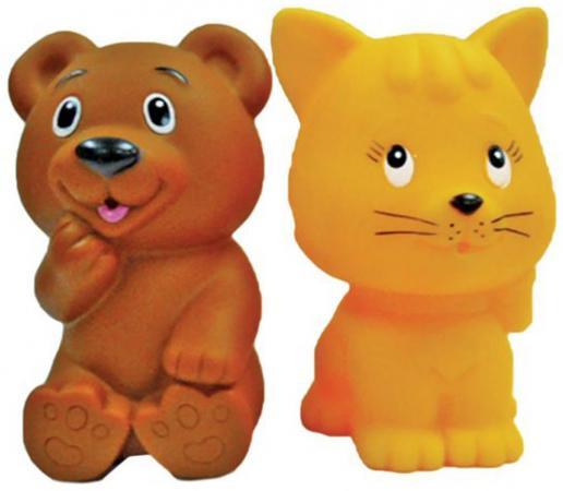 Купить Игрушка для купания для ванны Жирафики Мишка и котенок 681270, Игрушки