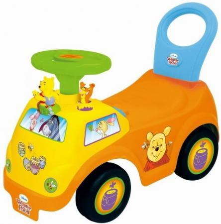 цены Каталка-машинка Kiddieland Винни пластик от 1 года музыкальная желтый