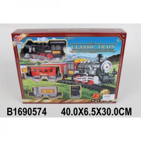Железная дорога на бат. свет+звук JHX6628 в кор. в кор.2*24шт