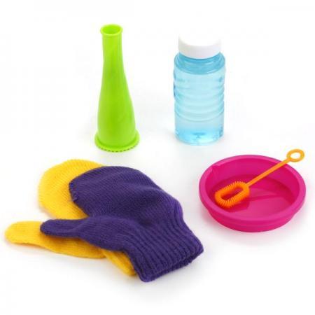 Набор д/пускания мыльных пузырей прыгунцы, перчатки, 50мл 1428D в пак. в кор.2*72шт