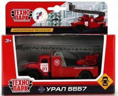 Пожарная машина Shantou Gepai УРАЛ 5557 красный SB-16-55-A-WB автомобиль технопарк машина с пушкой хаки sb 15 59 60 wb