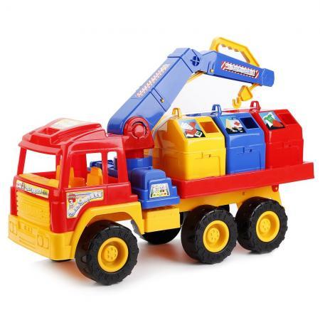 Мусоровоз Нордпласт ЕВРОСТАР разноцветный 431523 мусоровоз лена 3х осный 23 см разноцветный 8812